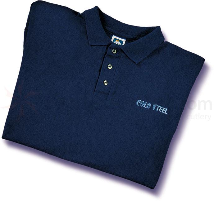 Cold Steel TPB1 Polo Shirt, Blue, M