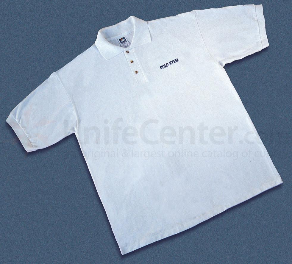 Cold Steel TPW2 Polo Shirt, White, L
