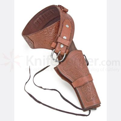 Deluxe Tooled Brown Western Holster - Extra Large