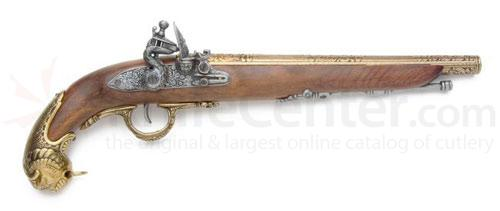 Spanish Made German Flintlock Pistol, 18th Century