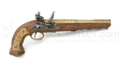 Spanish Made Classic French Dueling Pistol (Gold)