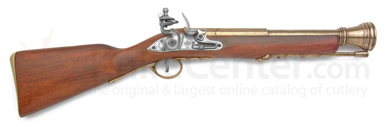 Spanish Made Pirate Boarding Blunderbuss, Brass Finish