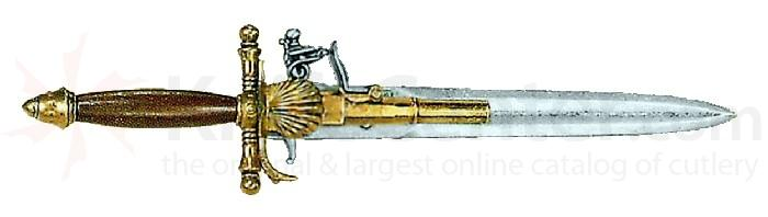 Reproduction Spanish Made 18th Century French Dagger-Pistol