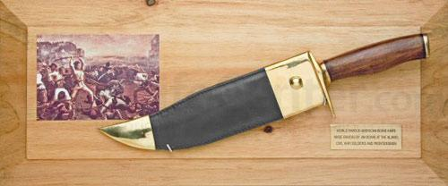 Bowie Knife Framed Set