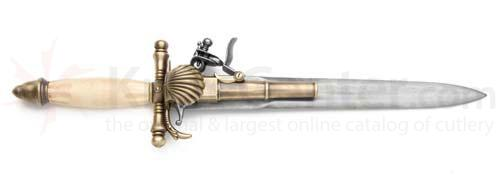Reproduction Elegant French Flintlock Dagger Pistol