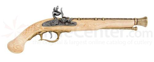 Deluxe Flintlock Pistol In Brass And Ivory Finish