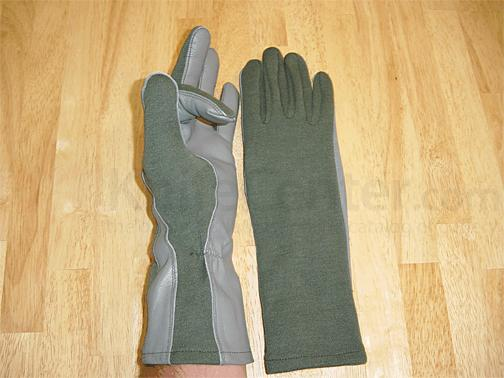 Worldwide Gloves Flight Gloves with NOMEX - Green, size Small