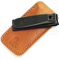 Concord Executive Nail Nipper, Tan Italian Leather Case