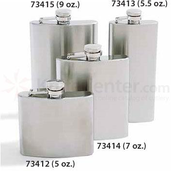 Concord 5 oz. Mirage Satin Finish Stainless Steel Flask
