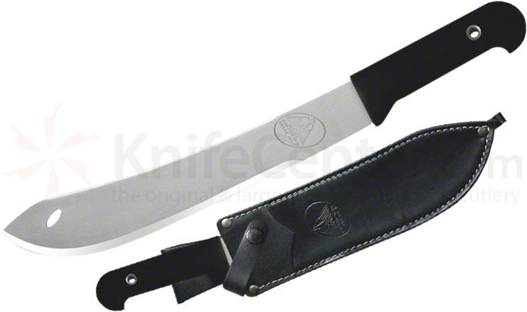 Condor Tool & Knife Inca Hunting Knife 10 inch Satin Stainless Steel Blade, Polypropylene Handle, Leather Sheath