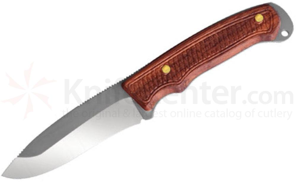 Condor Tool & Knife CTK310-3.1 Jackal Skinner Drop Point 3-1/8 inch Stainless Steel Blade, Walnut Handles, Leather Sheath