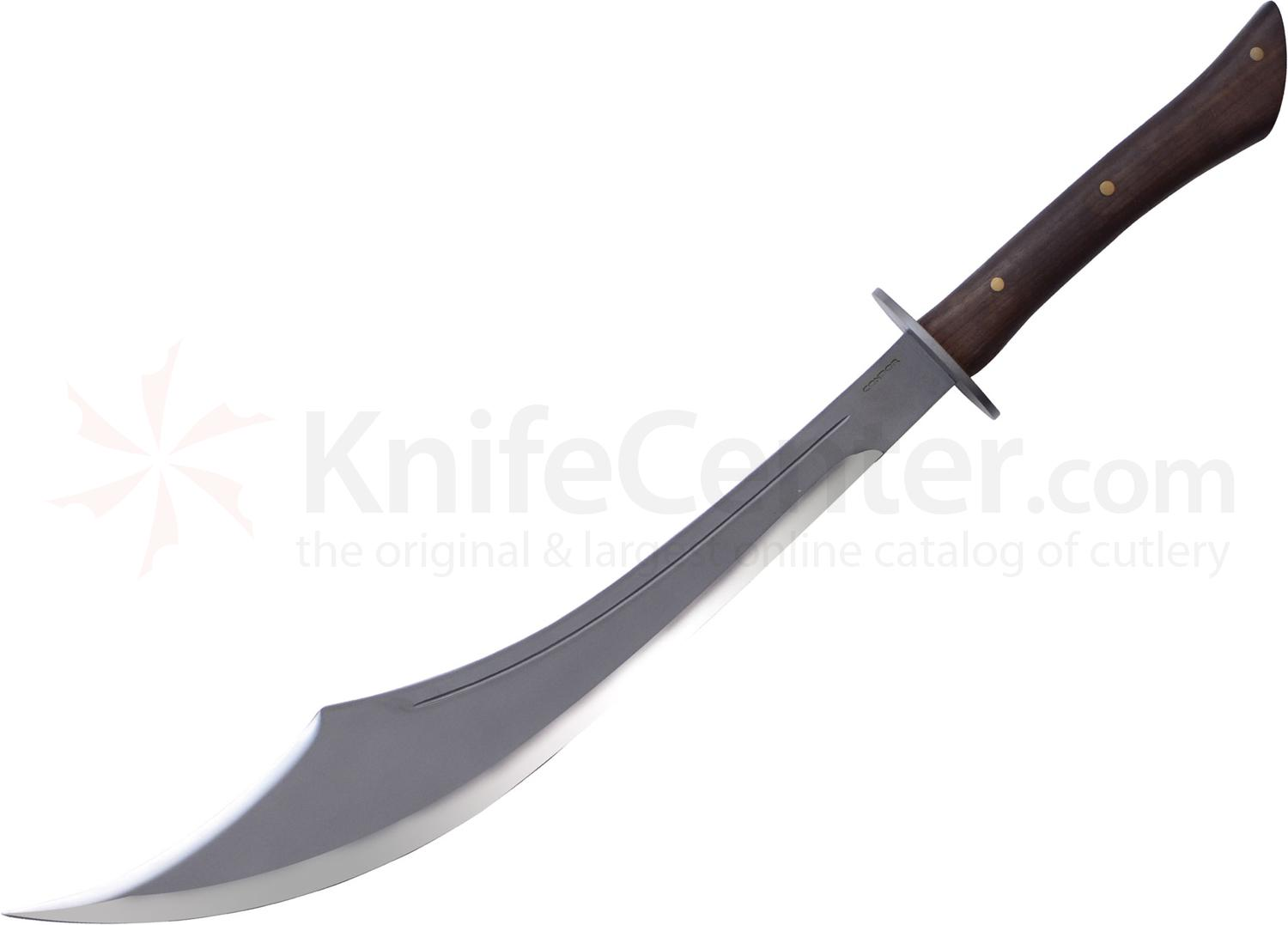 Condor Tool & Knife CTK357-22HC Sinbad Scimitar Sword 22 inch Carbon Steel Blade, Hardwood Handles, Leather Sheath