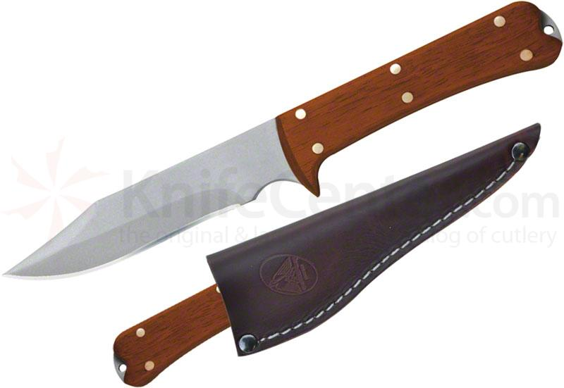 Condor Tool & Knife CTK7002-4.4 Lifeland Hunter Knife 4-1/2 inch Satin Stainless Steel Blade, Hardwood Handles, Leather Sheath