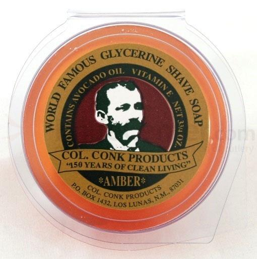 Colonel Conk #123 Super Size Amber Shave Soap 3.75 oz.