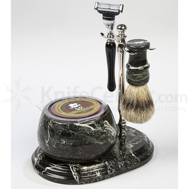 Colonel Conk Shaving Set 5 Piece Hand Crafted Marble Shave Set