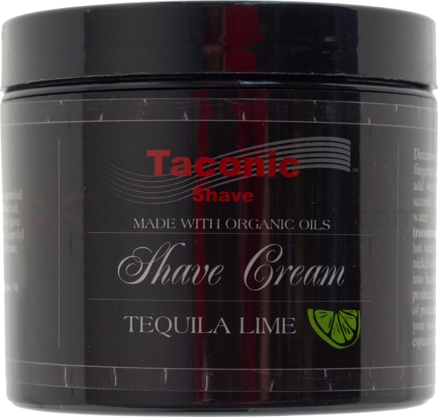 Taconic Tequila Lime Shave Cream, 4 oz. Tub