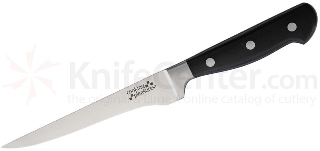 Cooking Pleasures 6.5 inch Boning Knife, Black Synthetic Handles