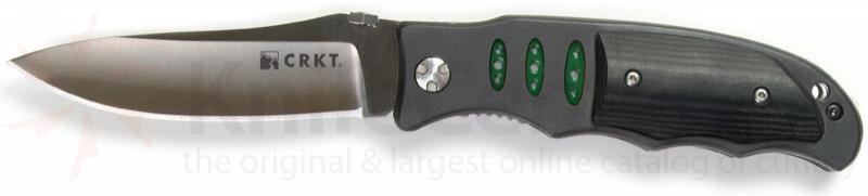 Columbia River Lake Sentinel 3.5 inch Plain Edge Blade w/ Micarta Scales