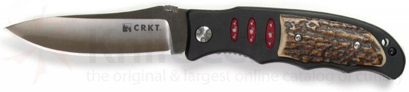 Columbia River Lake Sentinel 3.5 inch Plain Edge Blade w/ Stag Scales