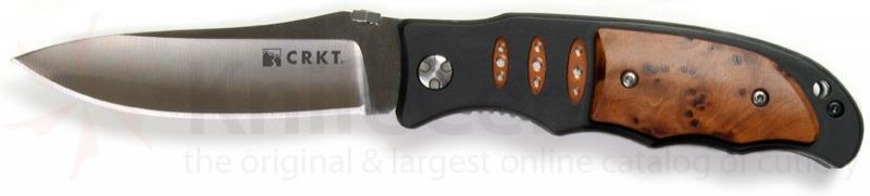 Columbia River Lake Sentinel 3.5 inch Plain Edge Blade w/ Hardwood Scales