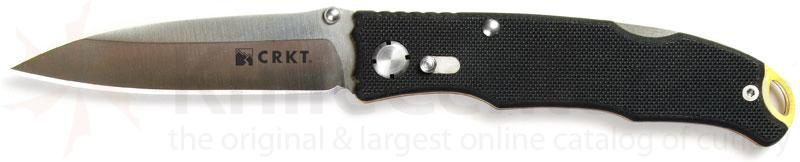 Columbia River Lake Laredo Folding Knife 3.25 inch Plain Blade, G10 Handles