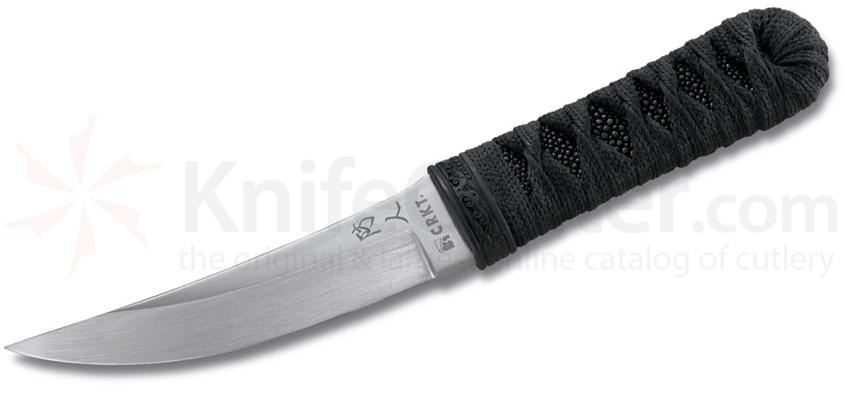Columbia River 2913 Sakimori Fixed 5.76 inch High Satin Blade, Cord Wrapped Handles, Kydex Sheath
