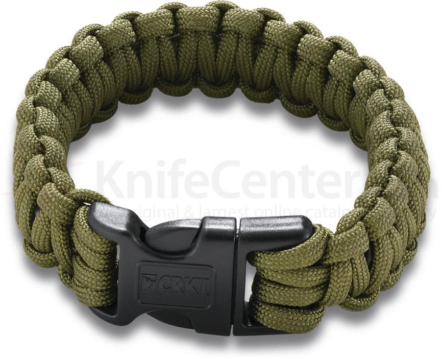 Columbia River 9300DL (Large) Onion Survival Para-Saw Paracord Bracelet, OD Green