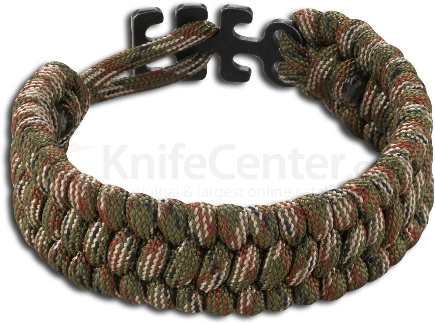 Columbia River 9400c Tom Stokes Adjule Paracord Bracelet Camo