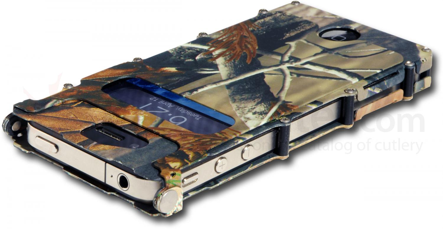Columbia River iNoxCase Stainless Steel iPhone 4 or iPhone 4S Case, Realtree Camo AP HD