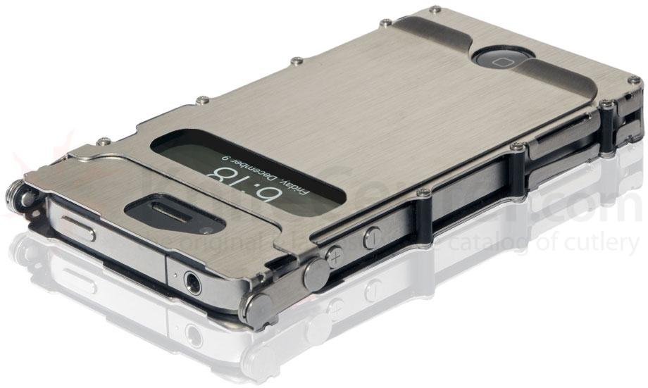 Columbia River iNoxCase 360 Degree Stainless Steel iPhone 4 or iPhone 4S Case, Silver