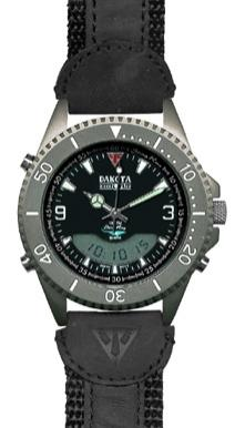 Dakota Watch Company Ion, Black Ana-Digi Dial, Outrider Band