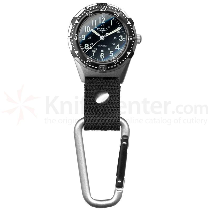 Dakota Watch Company Aluminum Backpacker, Black Dial, Black Case, Black Strap