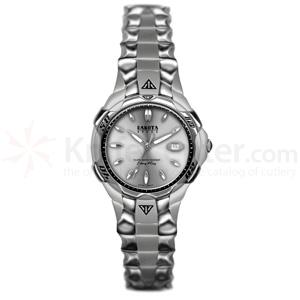 Dakota Watch Company Spider-Calendar, Silver Dial, Stainless Steel Band