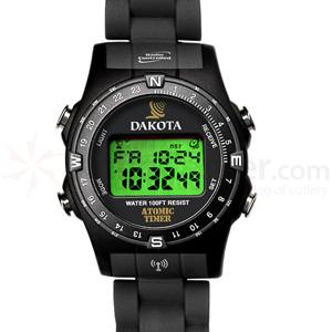 Dakota Watch Company Radio Controlled Watch, Black & Gray Bezel, Plastic Strap