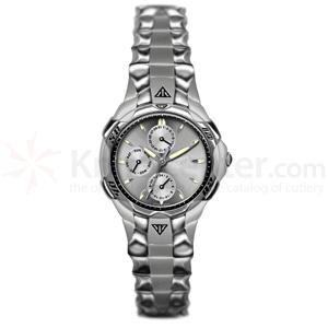 Dakota Watch Company Spider-Multifunction, Silver Dial, Stainless Steel Band