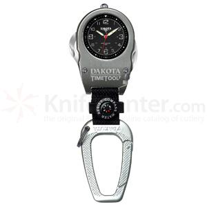 Dakota Watch Company Time Tool 7, Black Dial, Carabiner Clip