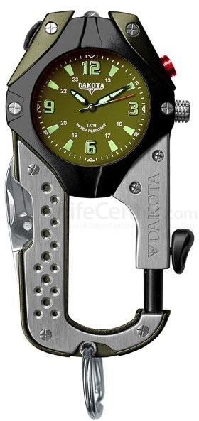 Dakota Watch Company Knife Clip, Army Green
