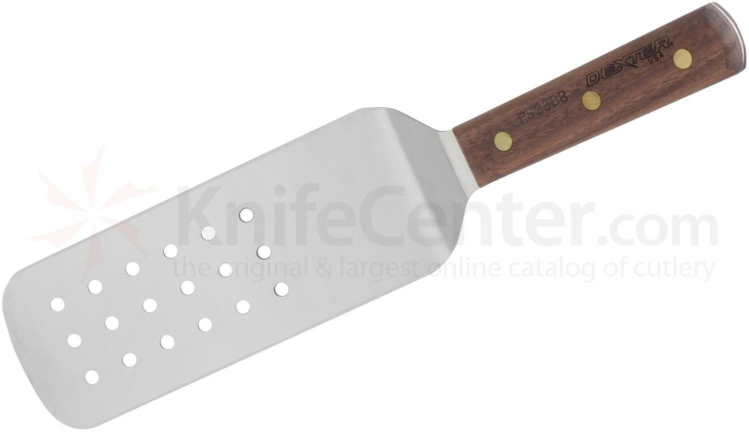 Dexter Perforated Cake Turner Walnut Handle 14 inch Overall Length Spatula, Made in the USA