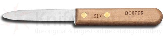 Dexter S17 Traditional Clam Knife 3 inch Blade, Wood Handles