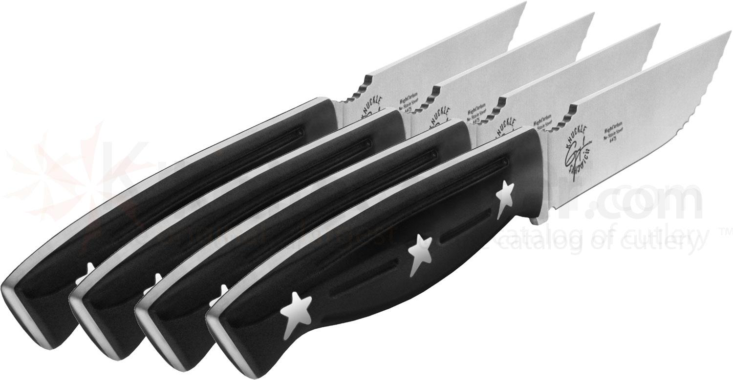 Ergo Chef Guy Fieri Knuckle Sandwich 4 Piece Steak Knife Set (Model 6475)