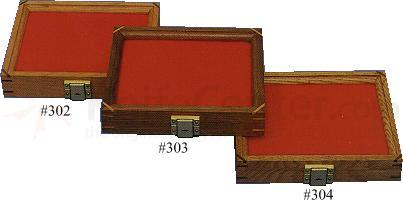 Walnut Wood Display Case 7.5 inch x 9.5 inch x 1.875 inch