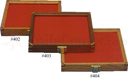 Cherry Wood Display Case 9.5 inch x 12 inch x 1.875 inch