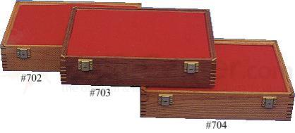 Cherry Wood Hinged Display Case 12 inch x 18 inch x 3.875 inch