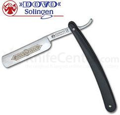 DOVO Straight Razor 5/8 inch Half Hollow Ground Blade, Black Synthetic Handle (101581)