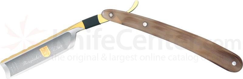 DOVO Straight Razor 5/8 inch Hollow Ground Blade with Buffalo Horn Handle