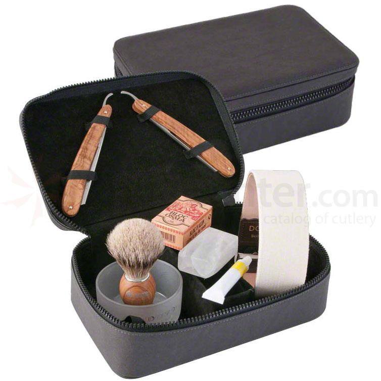 DOVO Straight Razor Travel Shave Set (860115)
