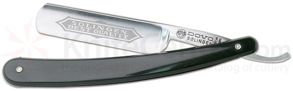 INCLUDES FREE REMINGTON USA DOCTOR KNIFE with DOVO Best Value Straight Razor 6/8 inch Wide Blade Black Handle
