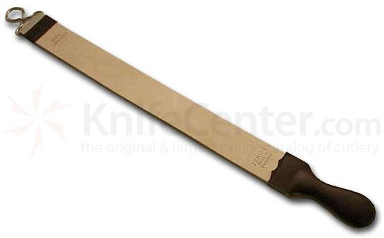 Jemico German Razor Strop 23 inch Long Tan Russian Leather And Canvas With Handle