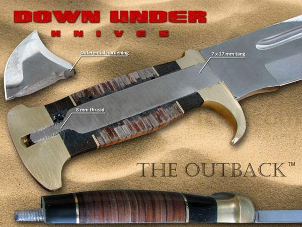 Down Under Knives The Outback Hunting Bowie Knife 11