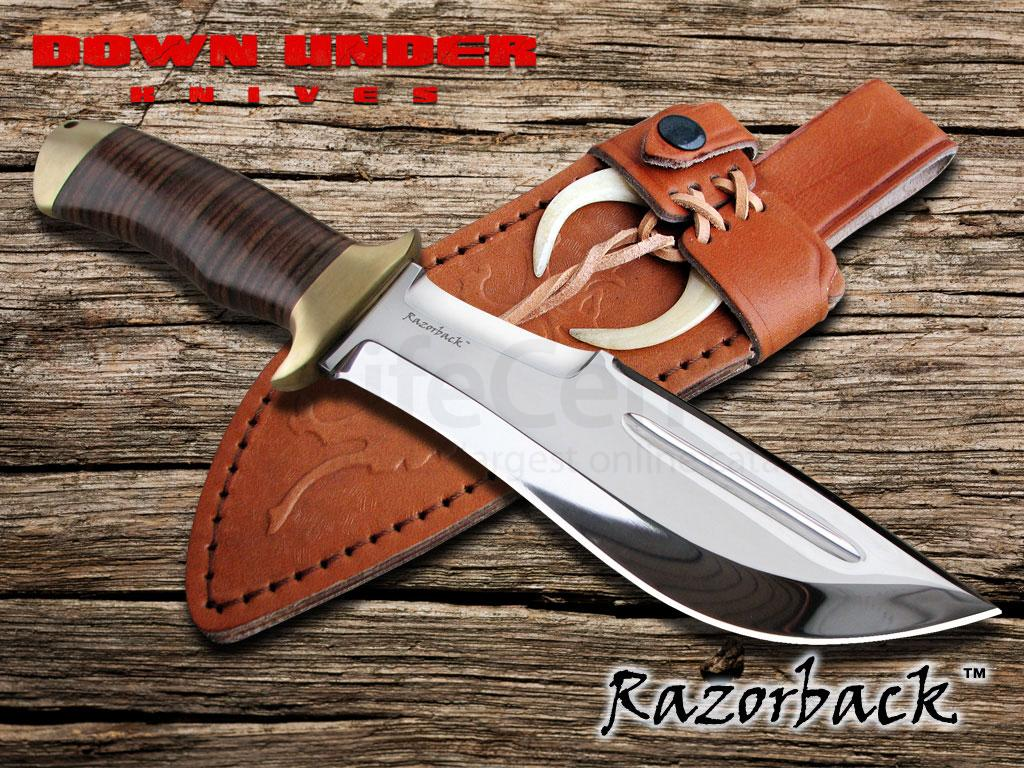 "Down Under Knives Razorback 7"" Polished Double Edge Blade"